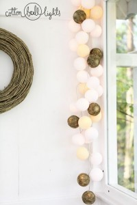Cotton Ball Lights - by Green Canoe Natural 10 kul