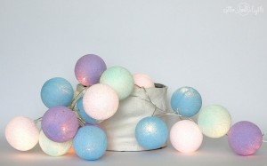 Cotton Ball Lights - Baby lavender 20 kul