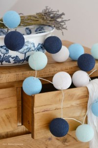 Cotton Ball Lights - Big Blue 10 kul