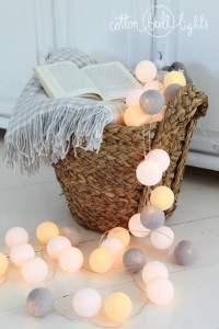 Cotton Ball Lights - by Green Canoe 35 kul