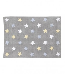 Lorena Canals - Dywan Tricolor Stars Gris/Azul 120x160cm